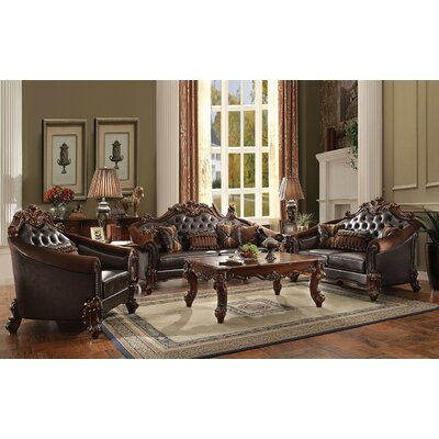 Lee 3 Piece Living Room Set Finish: Cherry