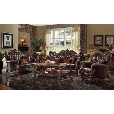 Queen 3 Piece Living Room Set Finish: Cherry Oak