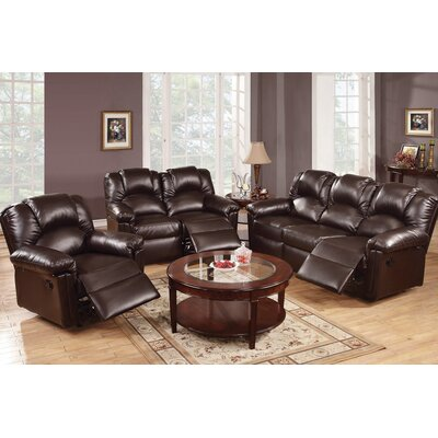Andy 3 Piece Living Room Set Upholstery: Espresso
