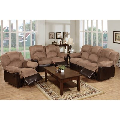 Wilson 3 Piece Living Room Set Upholstery Color: Light Brown