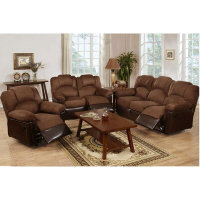 Wilson Motion 3 Piece Living Room Set Upholstery Color: Dark Brown