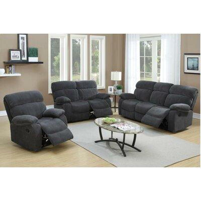 Vivi Motion 3 Piece Living Room Set Upholstery Color: Blue Grey