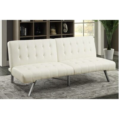Sophia Adjustable Sleeper Loveseat Upholstery: White