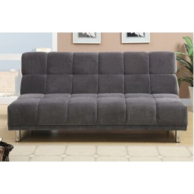 Carlos Adjustable Sleeper Loveseat Upholstery: Gray