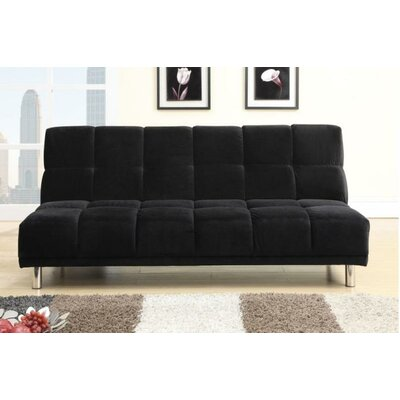 Carlos Adjustable Sleeper Loveseat Upholstery: Black