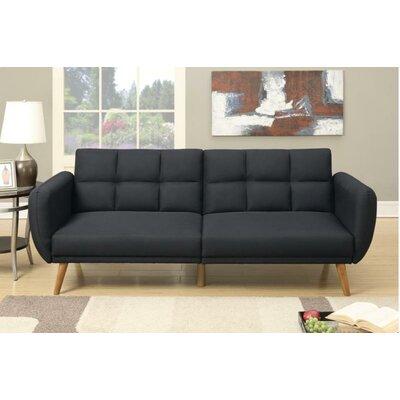 Delmar Adjustable Sleeper Sofa Upholstery: Black