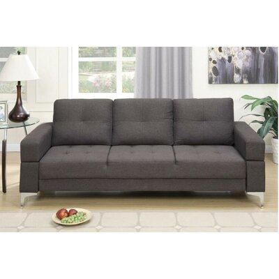 Alice Adjustable Sleeper Sofa Upholstery: Ash Black