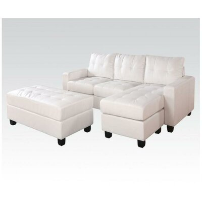 51WF2A1J0WH A&J Homes Studio White Sectionals