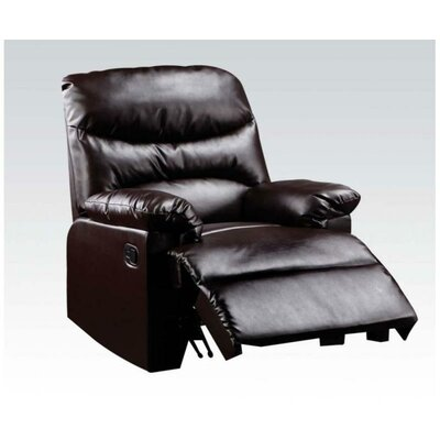 Fenway Manual Recliner Upholstery: Brown