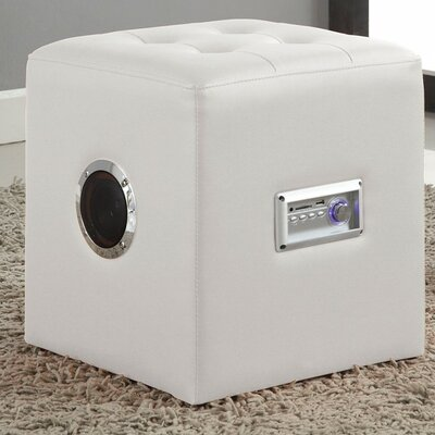 Gabrielino Sound Lounge Cube Ottoman Finish: White