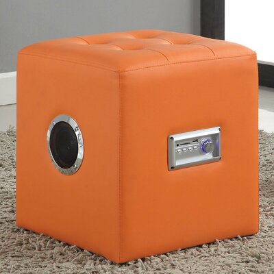 Gabrielino Sound Lounge Cube Ottoman Finish: Orange