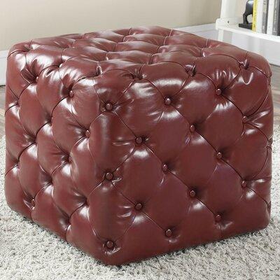Jayce Ottoman Upholstery: Burgundy