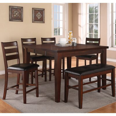 Paul 6 Piece Counter Height Dining Set