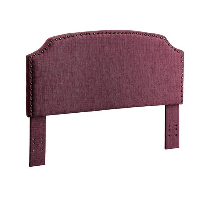 Ally Twin Upholstered Panel Headboard Upholstery: Purple