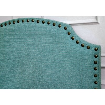 Ally Queen Upholstered Panel Headboard Upholstery: Blue