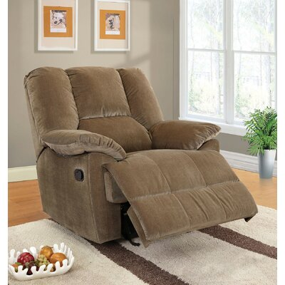 Able Manual Rocker Recliner with Ottoman Upholstery Color: Sage