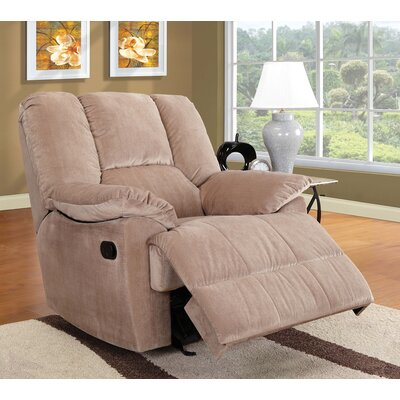 Able Manual Rocker Recliner with Ottoman Upholstery Color: Mushroom