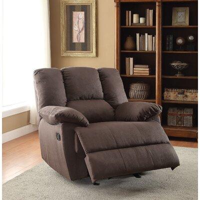 Fenway Manual Glider Recliner Upholstery Color: Dark Gray