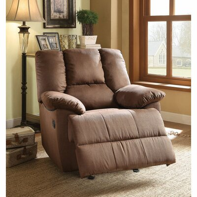 Freya Glider Recliner Upholstery Color: Dark Brown