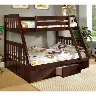 Twin over Full Bunk Bed with Underbed Storage