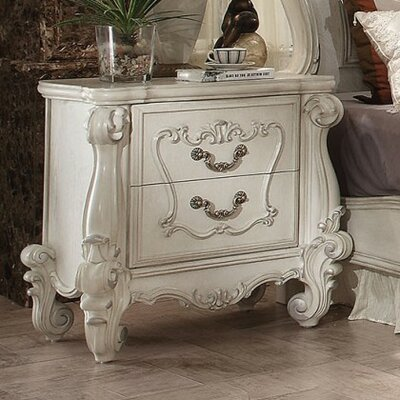 Queenies 2 Drawer Nightstand