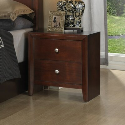 Alisa 2 Drawer Nightstand