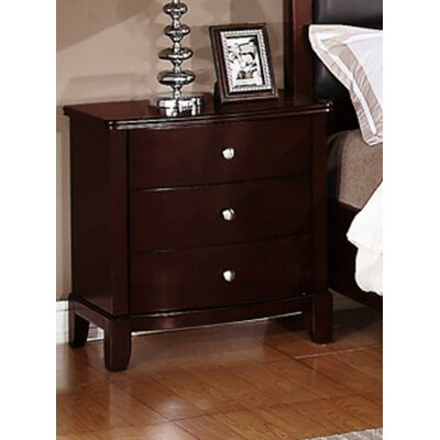 Julia 3 Drawer Nightstand
