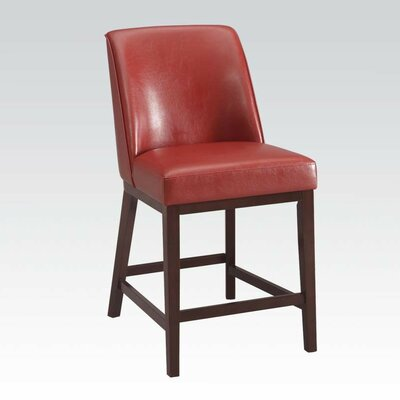 Amanda 29 Bar Stool with Cushion Upholstery: Red