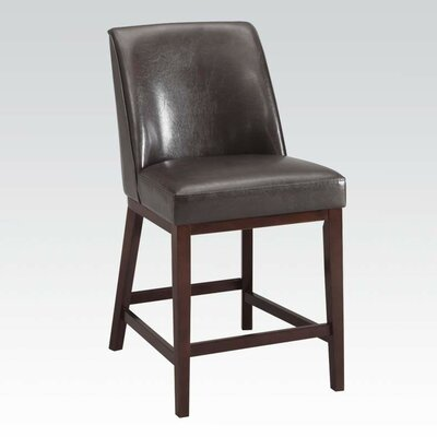 Amanda 29 Bar Stool with Cushion Upholstery: Espresso