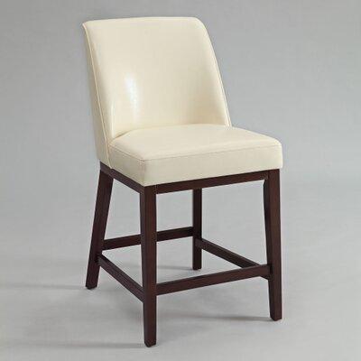 Amanda 29 Bar Stool Upholstery: Ivory