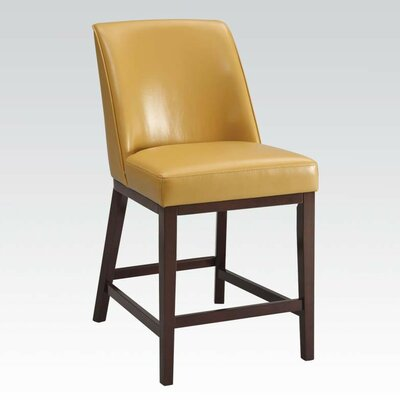 Amanda 29 Bar Stool Upholstery: Yellow