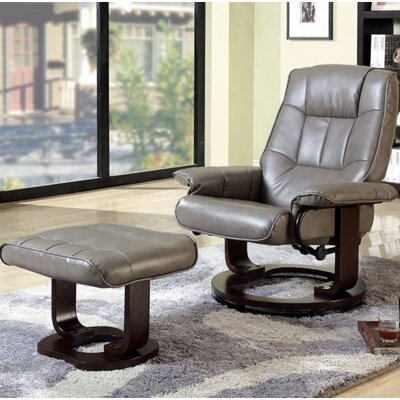 Cheswold Swivel Lounge Chair and Ottoman Upholstery: Gray