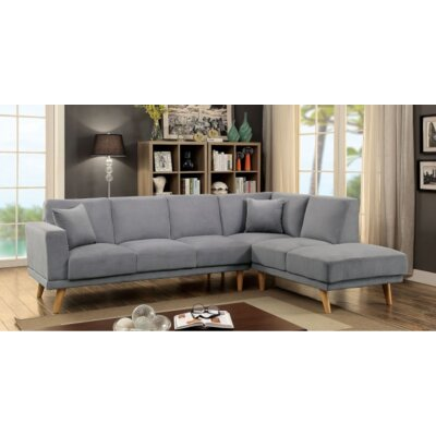 A&J Homes Studio 67WF9A9J-GRAY Sectional Upholstery