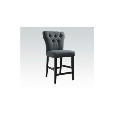 Safri Bar Stool Upholstery: Gray