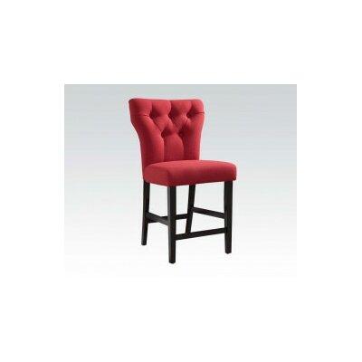 Safri Bar Stool Upholstery: Red