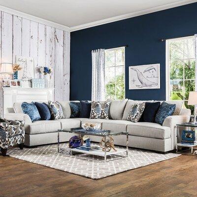Katherine Sectional Upholstery: Light Gray