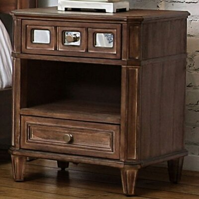 Lia 2 Drawer Nightstand