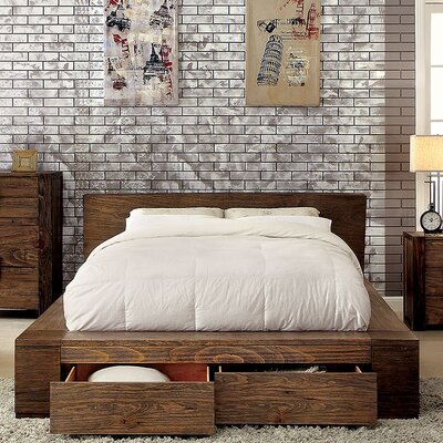 Joan Storage Platform Bed Size: Queen