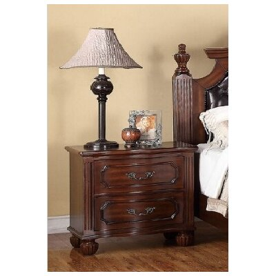 Dunton 2 Drawer Nightstand