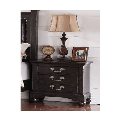 Mulberry 3 Drawer Nightstand