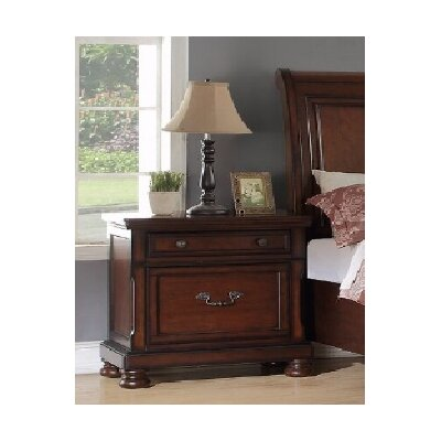 Carnell 2 Drawer Nightstand