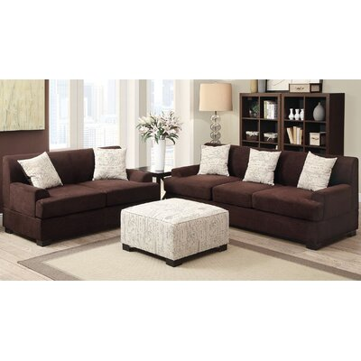 A&J Homes Studio ZD-7WF9A8JXSET Janine 8 Piece Living Room Set