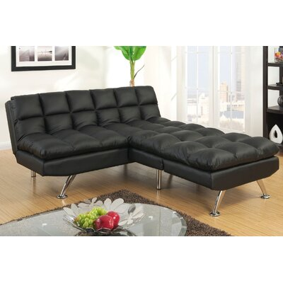 Montecito Adjustable Sofa and Chair Upholstery: Black