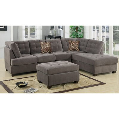 A&J Homes Studio ZD-7WF1A3J9CHA Antonio Reversible Sectional Upholstery