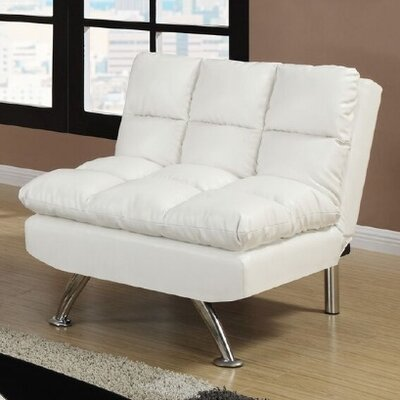 Montecito Adjustable Convertible Chair Upholstery: White