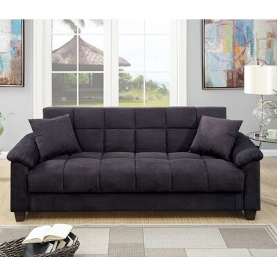 Lakeview Adjustable Storage Sofa Upholstery: Ebony