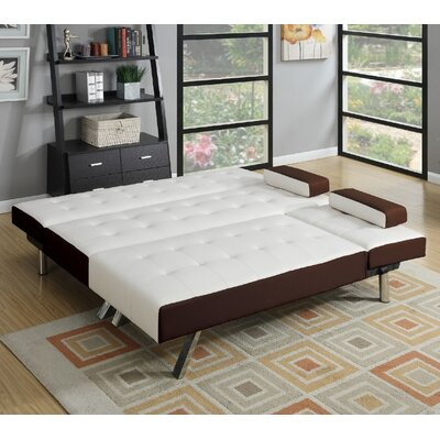 Fairmont Reversible Sleeper Sectional Upholstery: White/Espresso