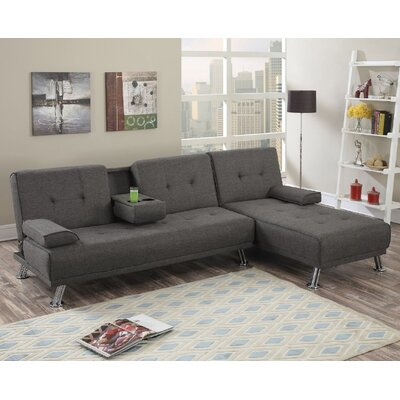 Canyon Sleeper Sectional Upholstery: Slate