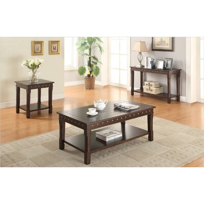 Lakeme 3 Piece Coffee Table Set