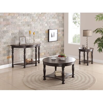 Denni 3 Piece Coffee Table Set Finish: Dark Brown